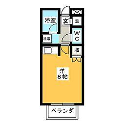 ドーム高峯[4階]の間取り