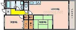 ラフィーネ川崎[305号室]の間取り