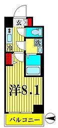 JR総武線 錦糸町駅 徒歩12分の賃貸マンション 3階1Kの間取り