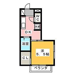 パーシモン館[1階]の間取り