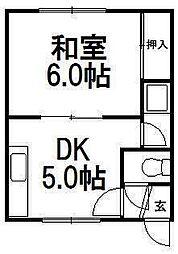 クラーク東札幌[102号室]の間取り