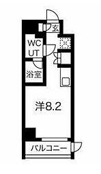 JR京浜東北・根岸線 大井町駅 徒歩8分の賃貸マンション 1階ワンルームの間取り