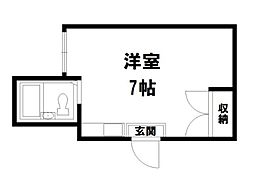 ビオス京都西陣アヤナス[2階]の間取り