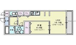 Osaka Metro御堂筋線 江坂駅 徒歩12分の賃貸アパート 1階1LDKの間取り