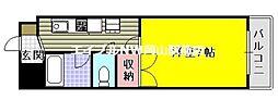 岡山県岡山市北区矢坂東町の賃貸マンションの間取り
