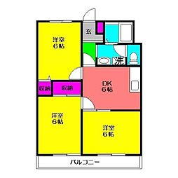 飯島レジデンス1[204号室]の間取り