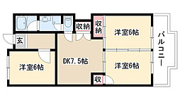 愛知県名古屋市緑区池上台3丁目の賃貸マンションの間取り