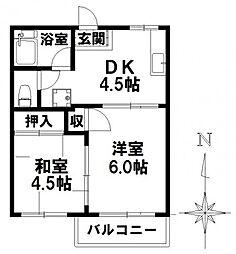 タウニー新瑞 A棟[1階]の間取り