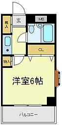 三明ハイツ[2階]の間取り
