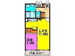 MAISON NOBLE[4階]の間取り