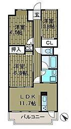 神奈川県相模原市南区相模台6丁目の賃貸マンションの間取り