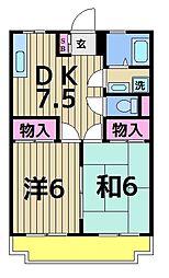 サンハイツ永浦[203号室]の間取り