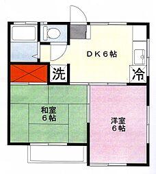 メゾン赤堀[2階]の間取り