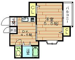 シャンテ野田[5階]の間取り