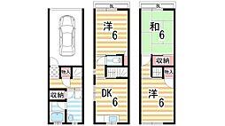 [一戸建] 大阪府大東市三箇6丁目 の賃貸【大阪府/大東市】の間取り