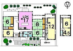 土地面積102.35坪。南側に広いお庭のある大型住宅です。