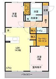 埼玉県新座市栄5丁目の賃貸アパートの間取り