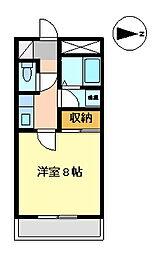 アメニティーコープS[4階]の間取り