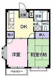エルディム藤ニュータウン1[2階]の間取り