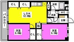 松岡コーポ[305号室]の間取り