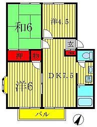 アーバンタカハシ6[2階]の間取り