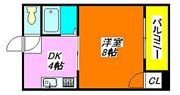 エミネント・ダイキ 308号室[3階]の間取り