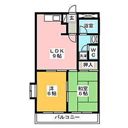 エイトハウスB[2階]の間取り
