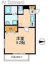 ヒューマンパレス新松戸VIII[3階]の間取り