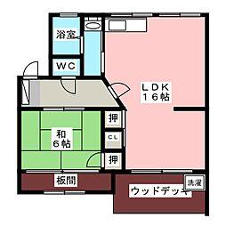 大森西住宅11号棟[2階]の間取り