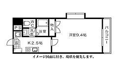 西広島ビレッジ--[206号室]の間取り