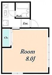 ローズアパート32番館[1階]の間取り