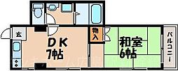 広島県広島市東区曙4丁目の賃貸マンションの間取り
