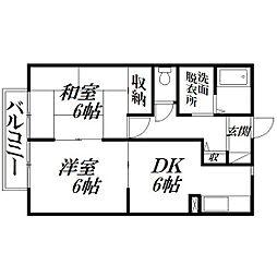 静岡県浜松市西区神ケ谷町の賃貸アパートの間取り