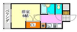 千葉県船橋市東船橋3の賃貸マンションの間取り