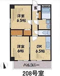 東京都練馬区三原台1丁目の賃貸マンションの間取り