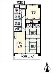 エステート垣戸[2階]の間取り