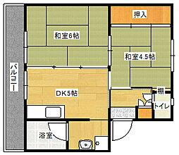 ビレッジハウス直方 4号棟[105号室]の間取り