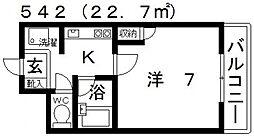 ユーコート21[206号室号室]の間取り