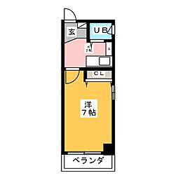 セザール鶴舞公園502号室[5階]の間取り