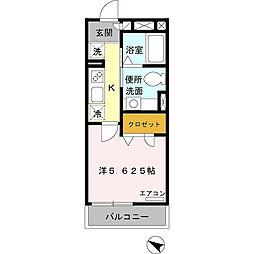 D-room ルーチェ湘南[303号室]の間取り
