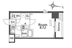 ルフォンプログレ本町WEST[4階]の間取り