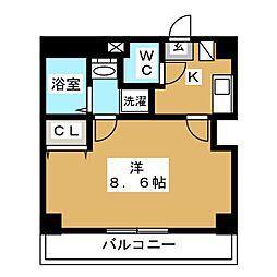 セントハウス横川 3階1Kの間取り