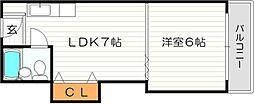 ベストレジデンス江坂A棟[6階]の間取り