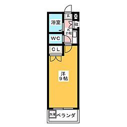 サニーサイド林[1階]の間取り