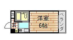 ハイツ八戸ノ里[4階]の間取り