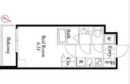 京王線 笹塚駅 徒歩4分の賃貸マンション 4階1Kの間取り