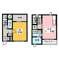 [テラスハウス] 岡山県岡山市北区天瀬南町 の賃貸【/】の間取り
