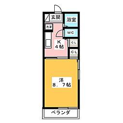 メゾン・クアトロ[2階]の間取り