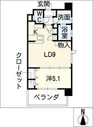 グランデュール東桜[9階]の間取り