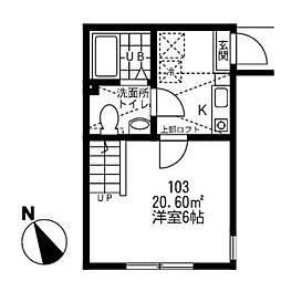 神奈川県相模原市緑区橋本台2丁目の賃貸アパートの間取り